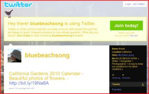 Blue Beach Song Twitter