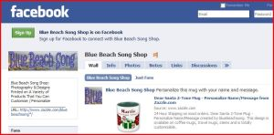 Blue Beach Song Shop on Facebook