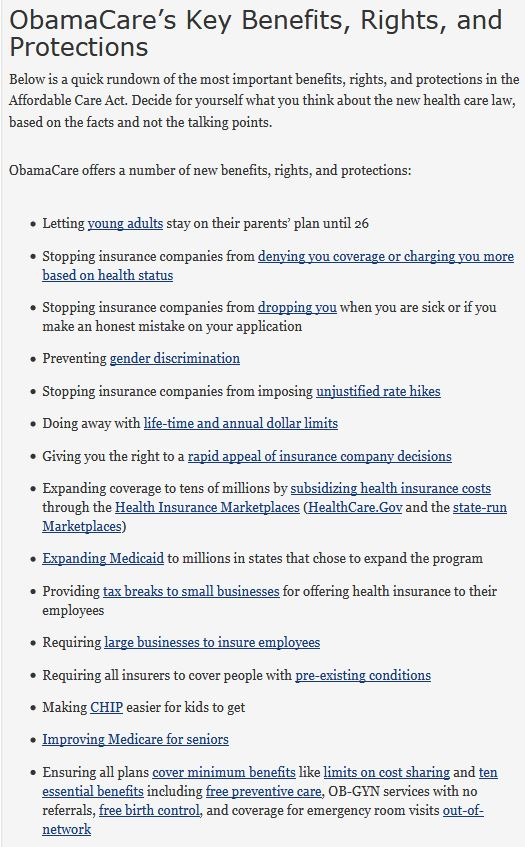 ObamaCareFacts Website