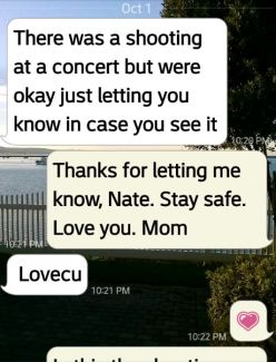 Las Vegas Shooting Text 1