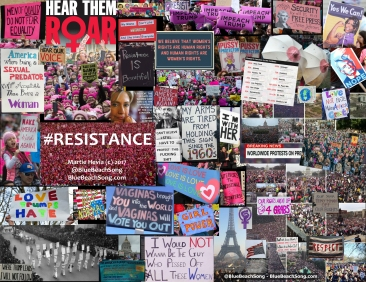 The Resistance 2017 Collage BlueBeachSong 2