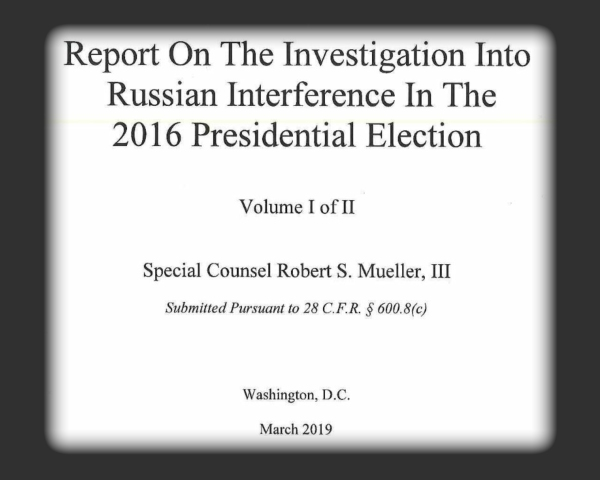 The Mueller Report Title Page - BlueBeachSong